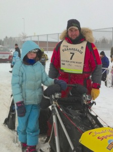 Julia and Nathan at the 2014 Beargrease Starting Line!